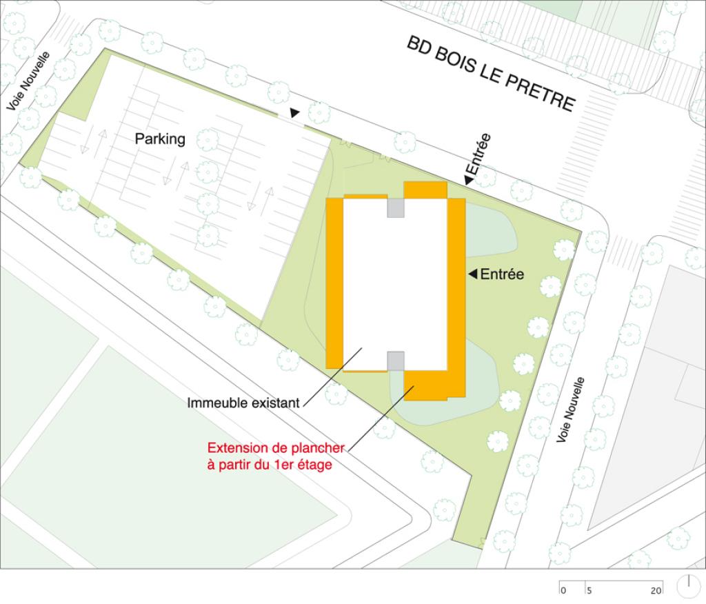 Block  Paris 17°, Tour Bois le Prêtre  Druot, Lacaton & Vassal ~ Plan Tour A Bois